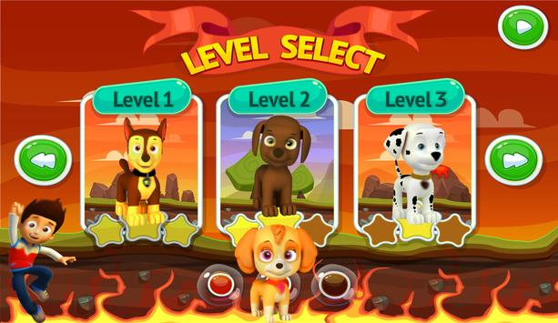 puppy rider paw games poster