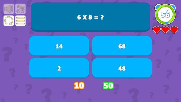 Multiplication Table Quiz screenshot 3