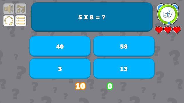 Multiplication Table Quiz screenshot 1