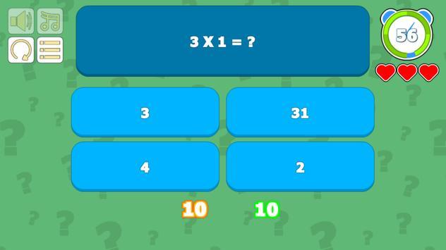 Multiplication Table Quiz screenshot 2