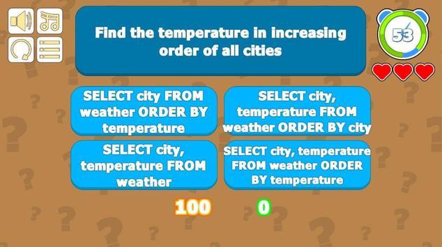 SQL Quiz screenshot 1