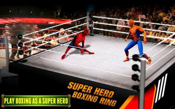 Poster Superhero VS Spider Hero combattere la vendetta