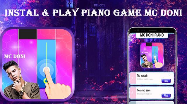 Piano Game MC Doni Te Amo poster