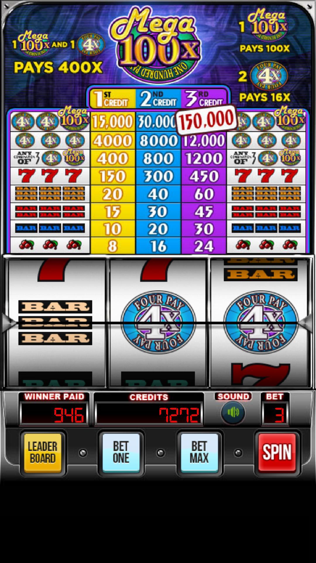 MEGA 100x Slots poster