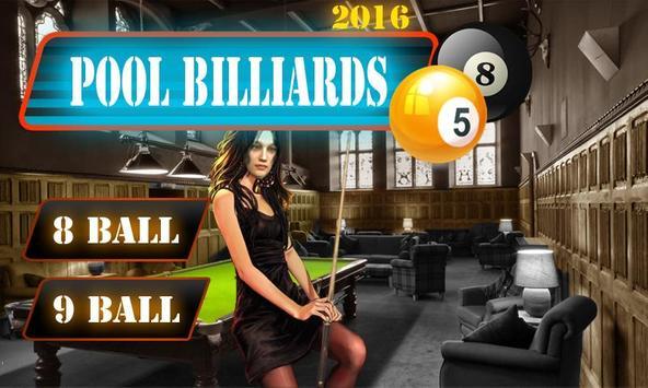 Pool Billiards 2016 poster