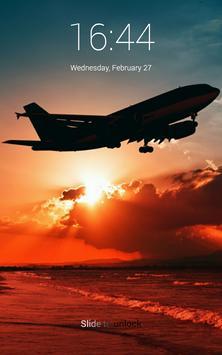Airplane HD Lock Screen poster