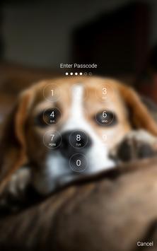 Cute Beagle Lock Screen screenshot 1