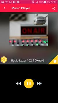 Radio Lazer 102.9 Oxnard Free Music Radio Station plakat
