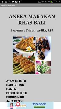 Aneka Makanan Khas Bali poster