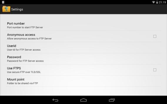 WiFi FTP Server screenshot 5