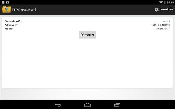 FTP Serveur WiFi capture d'écran 5