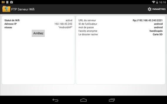 FTP Serveur WiFi capture d'écran 6
