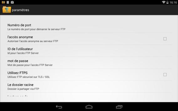 FTP Serveur WiFi capture d'écran 7