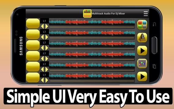 Multitrack Audio For Dj Mixer screenshot 1