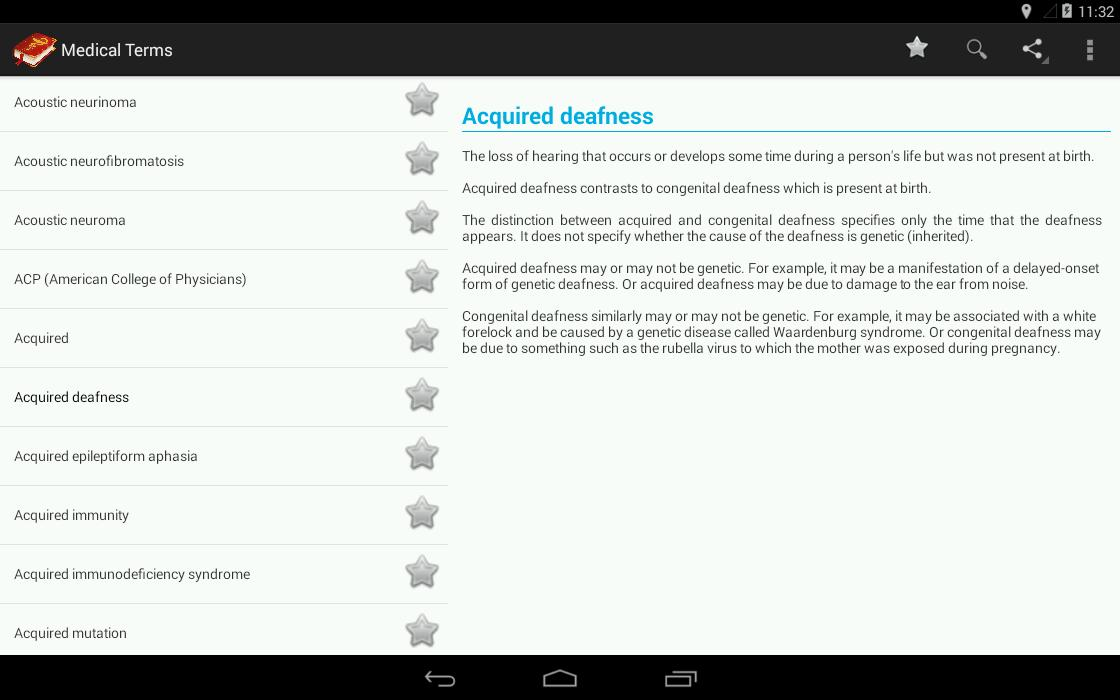 Medical Terminology Dictionary:Search&Vocabulary for Android