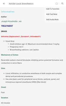 5 Minute Anesthesia Consult - 480 Distinct Topics screenshot 17