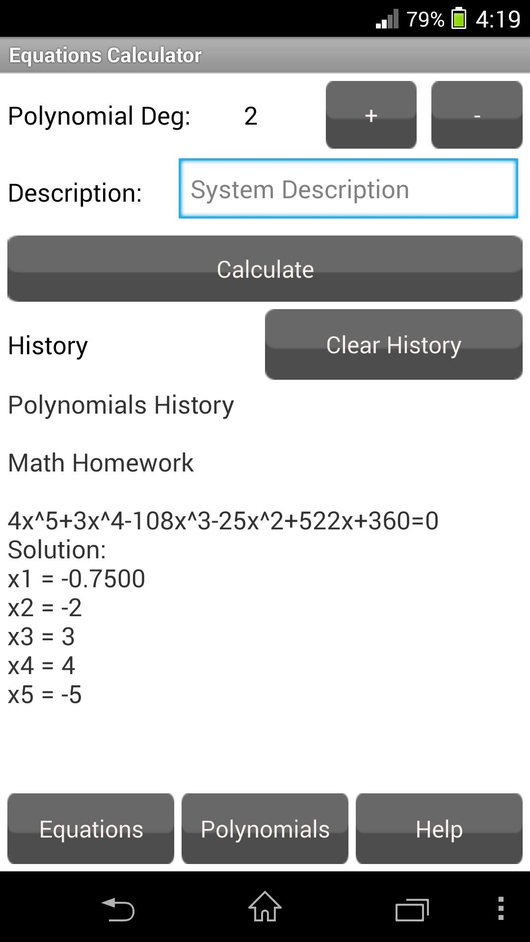 Equations Calculator FreeTrial for Android - APK Download