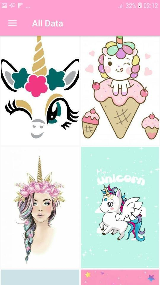 Kawaii Unicorn Wallpaper Cute Backgrounds For Android Apk Download