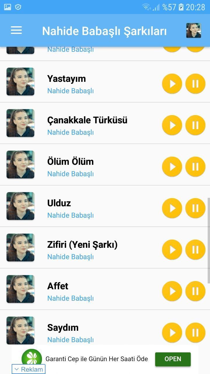 Nahide Babasli Sarkilari For Android Apk Download