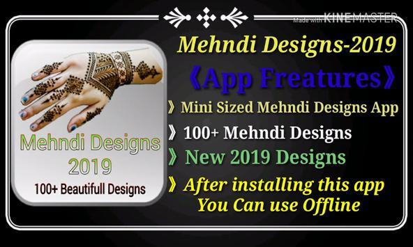 Mehndi Designs-2019(100+ Designs & Offline App) poster
