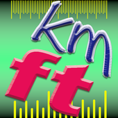 Kilometer and Foot (km & ft) Convertor icon