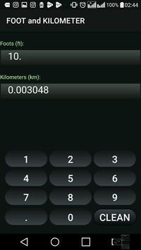 Kilometer and Foot (km & ft) Convertor screenshot 3