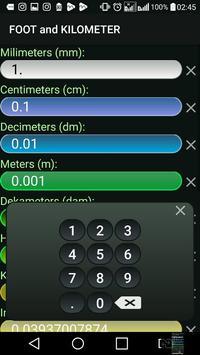 Kilometer and Foot (km & ft) Convertor screenshot 5