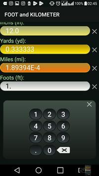 Kilometer and Foot (km & ft) Convertor screenshot 7