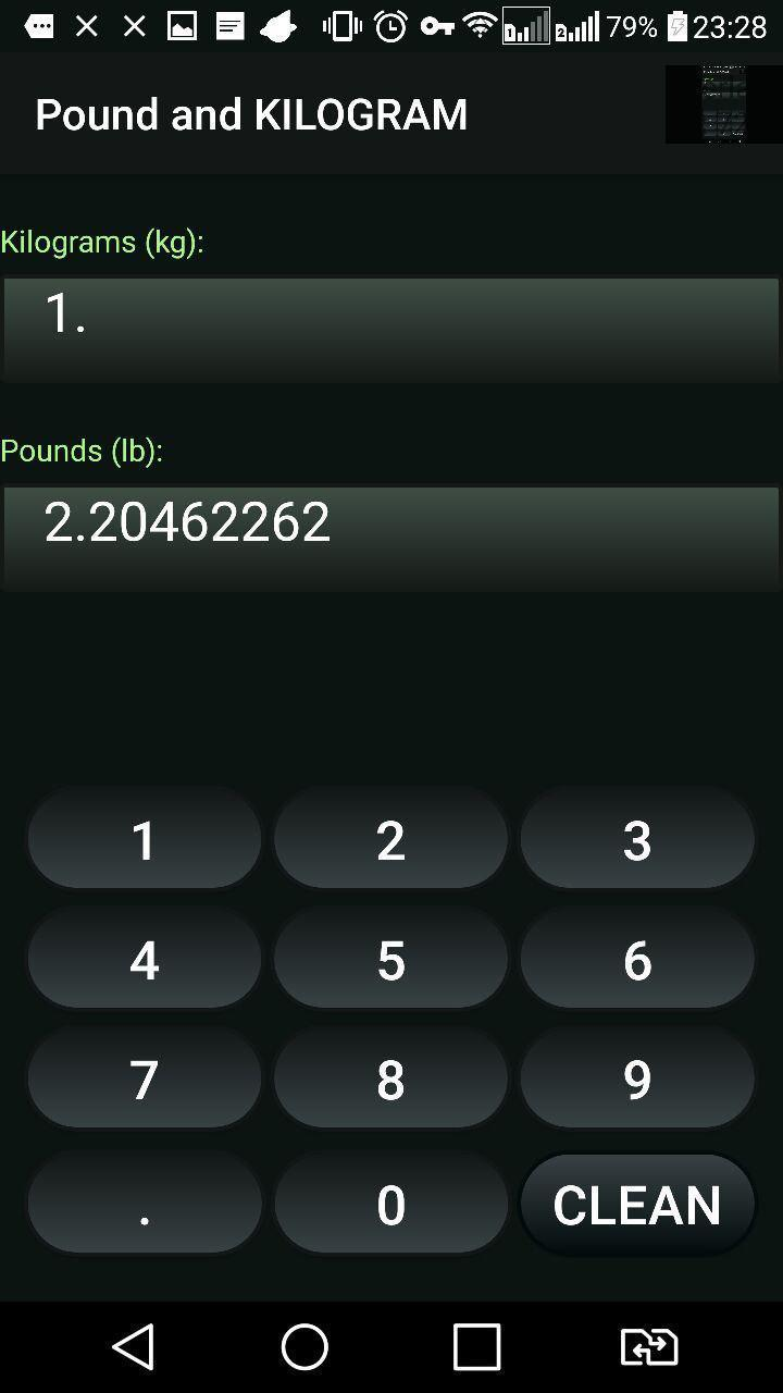 pound kilogramm