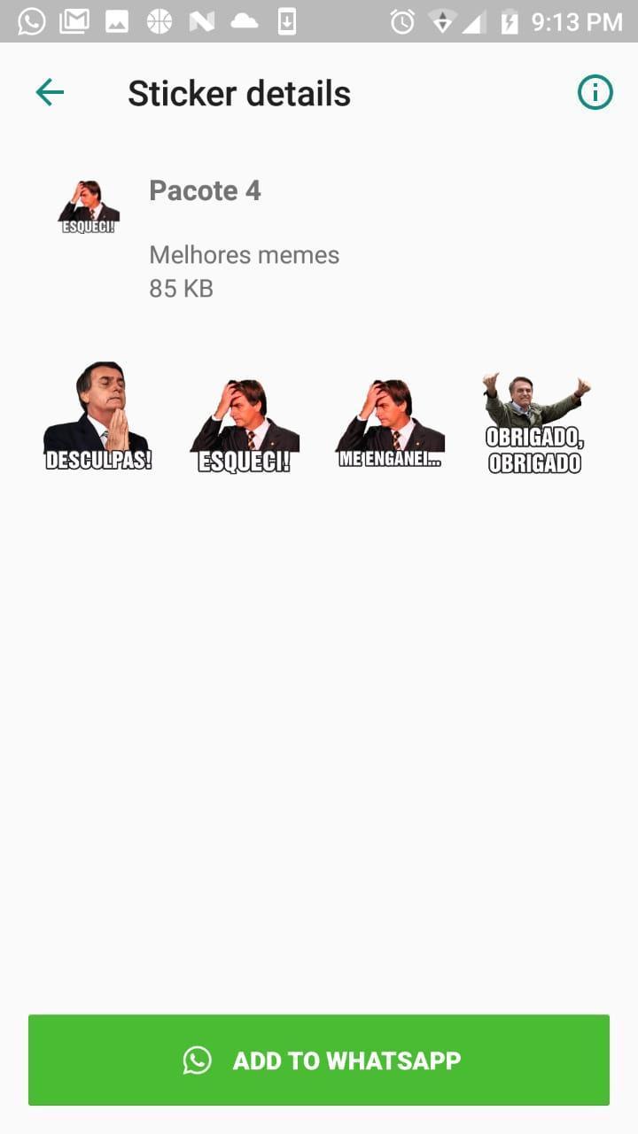 Stickers Do Bolsonaro Com Frases 2019 For Android Apk