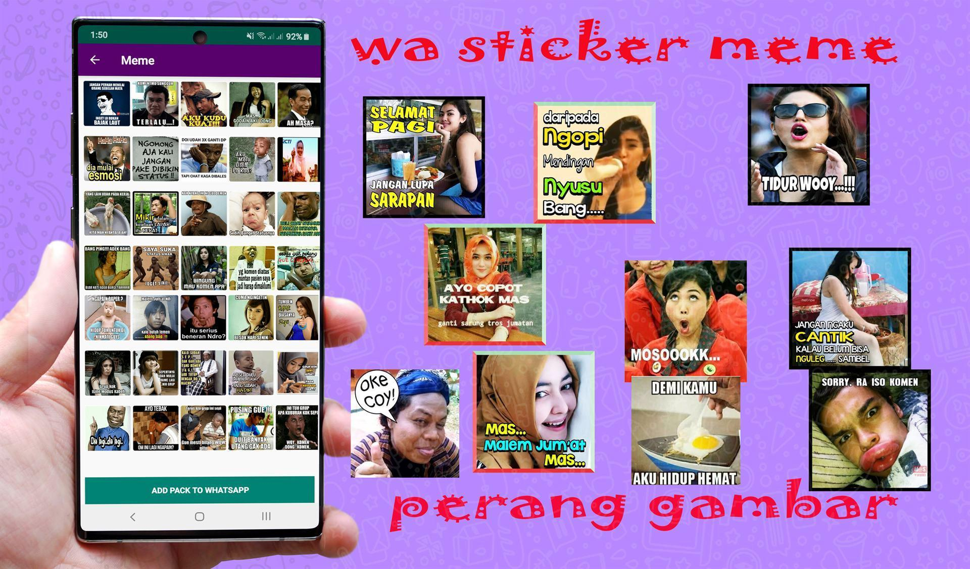 WAStickerApps MEME Stickers INDONESIA For WhatsApp For