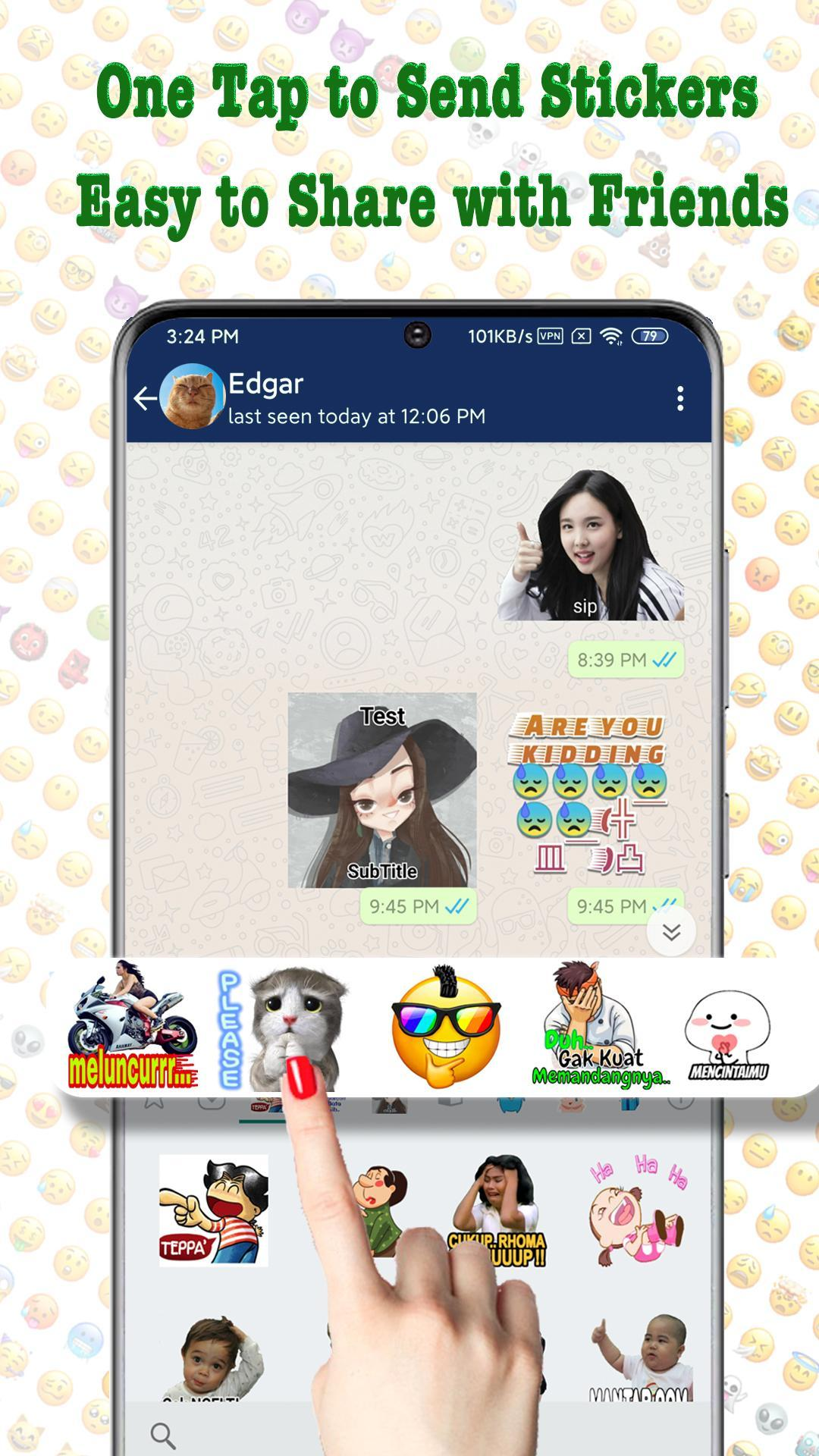 Textsticker Sticker For Whatsapp Wastickerapps For Android Apk Download