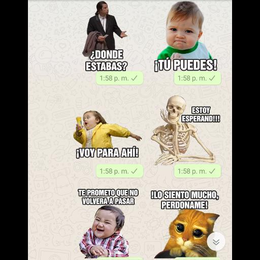 Stickers Con Frasi.Memes Stickers Whatsapp Con Frases For Android Apk