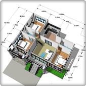 住宅建築計画図の作成 アイコン
