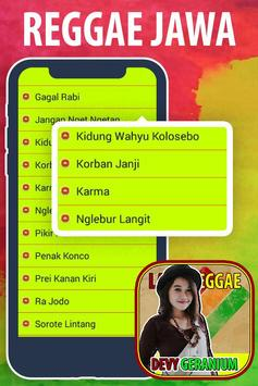 Lagu Dhevy Geranium Reggae Jawa Koplo Hits screenshot 6