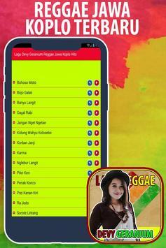 Lagu Dhevy Geranium Reggae Jawa Koplo Hits screenshot 2