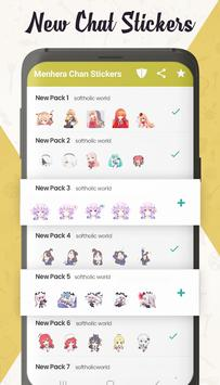 Menhera Chan Pack - Anime Stickers for WhatsApp poster