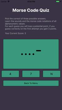 Morse Code Flashcards+Quizzes screenshot 1