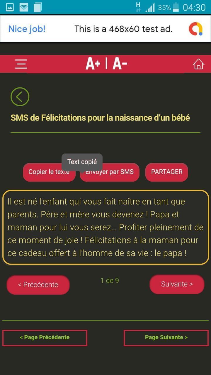 Messages De Félicitations Pour Toutes Occasions For Android