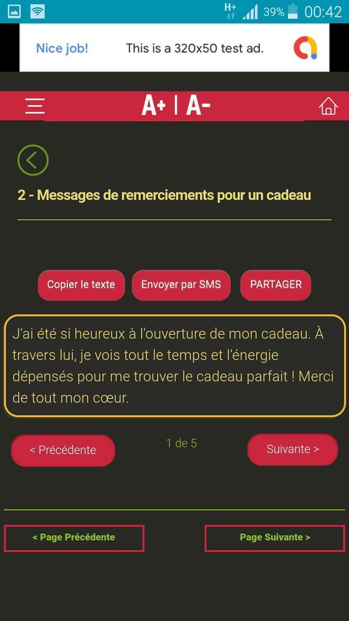 Messages De Remerciements Pour Toutes Occasions For Android