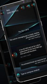 Night Mode SMS Messenger screenshot 1