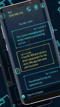 New hacker 2020 sms messenger theme screenshot 1
