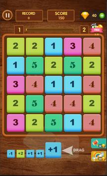Merge Numbers - Merge Block Puzzle Game poster