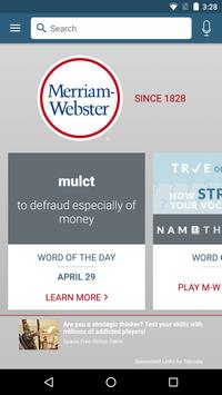 Dictionary - Merriam-Webster poster