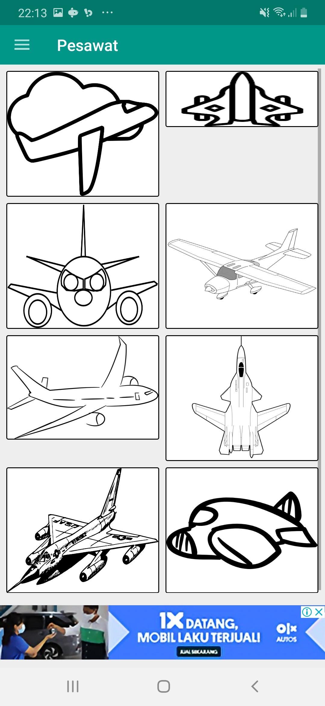 Mewarnai Gambar Pesawat For Android Apk Download