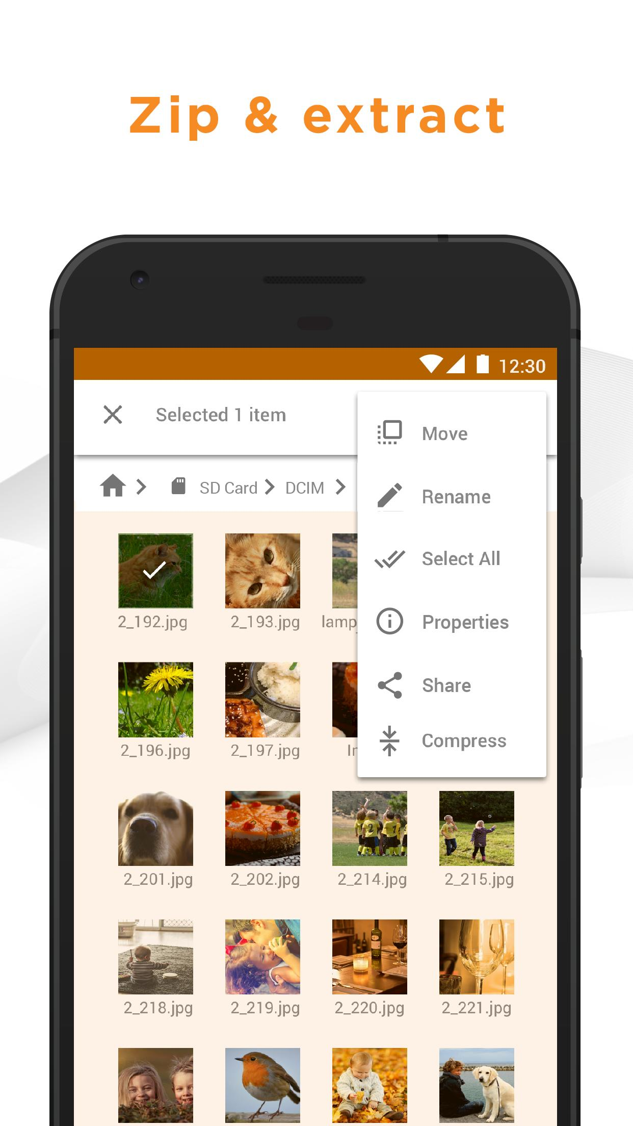 Astro file manager for android.