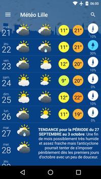 Météo Lille screenshot 1