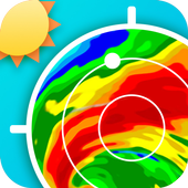 Radar météo icône