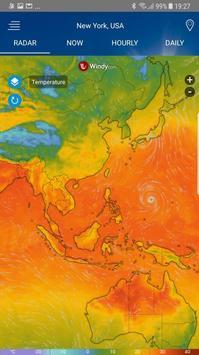 Radar météo Affiche