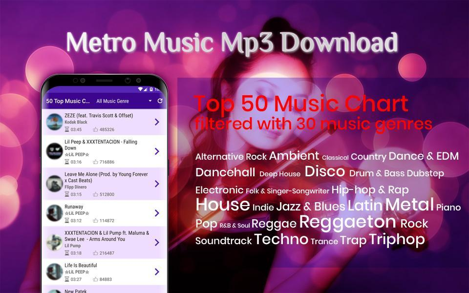 Metro Music Unlimited Free Mp3 Download for Android - APK